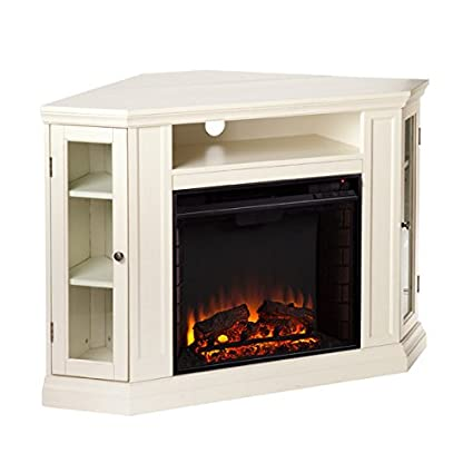 electric fireplace tv stand heater corner or flat free standing console media wooden entertainment center - Corner Tv Stands With Fireplace