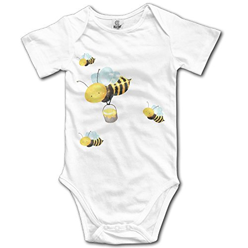 WUGOU Baby Bodysuit Cute Bumblebee Short Sleeves Triangle