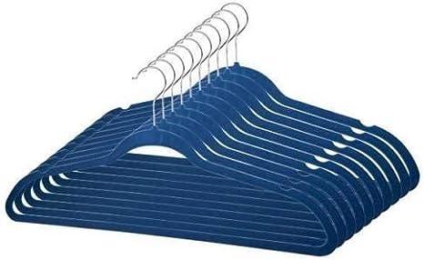 NOBRAND 50 unidades Perchas de terciopelo antideslizantes color azul