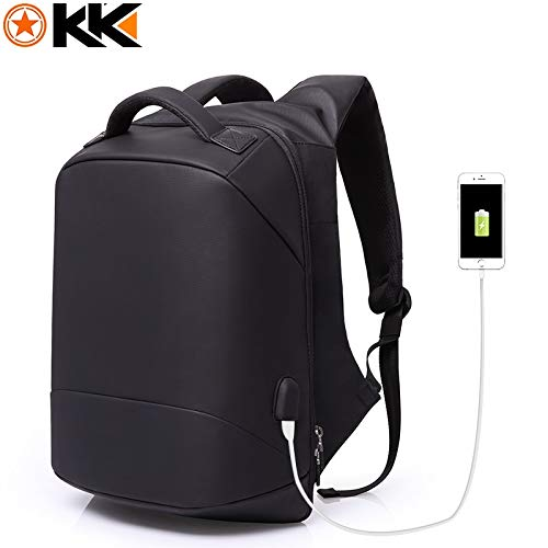 c176fe2aef KAKA Men Backpacks Multifunction USB Charging 15.6inch Laptop Backpack Bag  Anti Theft Waterproof Fashion Mochilas Male Backpack (Black