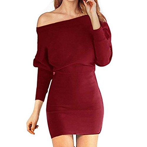 Langarm pullover kleid