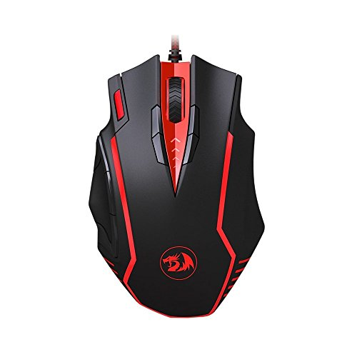 Redragon M902 SAMSARA 16400 DPI High-Precision Programmable Laser Gaming Mouse for PC, FPS, 13 Programmable Buttons, Weight Tuning Cartridge, 5 Programmable User Profiles, Omron Micro Switches (Black)