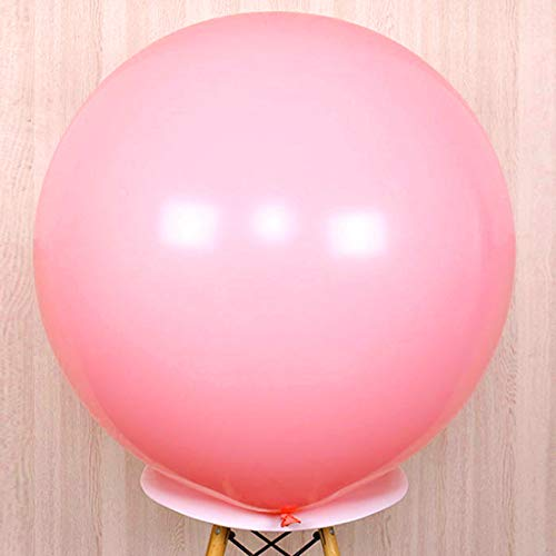 GuassLee Giant Round Balloons 36-inch Pink Balloons Large