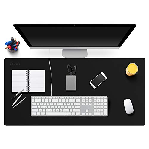 """TOWWI Leather Desk Pad Protector 34""""x17"""" Desk Blotter Pad, Waterproof Writing Desk Mat for Office Home by Towwi"""