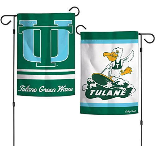 WinCraft Tulane University Green Wave Garden Flag, Retro College Vault Edition,12.5 x 18 inches, 2 Sided Print ()