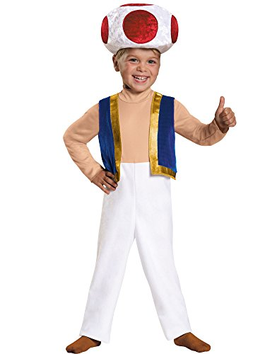 Toad Toddler Costume, Medium (3T-4T)