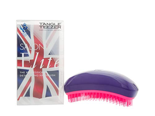 Tangle Teezer Salon Elite Hair Brush, Purple Crush | Professional Wet & Dry Detangling Hairbrush