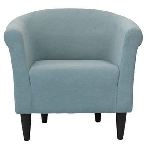 Modern Barrel Chair - Chic Contemporary Accent Furniture - Living Room Bedroom Seat for Home (Twilight Blue) (Blue Accent Chairs For Living Room)