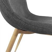 Menzzo España Pack de 4 sillas nórdicas GAO en Tela Gris Oscuro (Gris): Amazon.es: Hogar