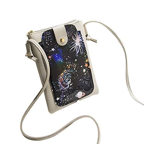 Sac À De Femme Pour Bandoulière Cellulaire Coafit Téléphone Grey Ciel Motif 4qA5wd
