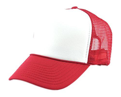NYFASHION101 Blank Mesh Adjustable Snapback Cotton 6-Panel Trucker Hat Cap, ()