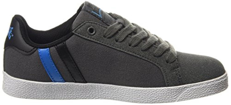 Lonsdale Coburn, Boys' Multisport Outdoor Shoes, Grey (Grey/Black/Blue), 2 Child UK (34 EU)