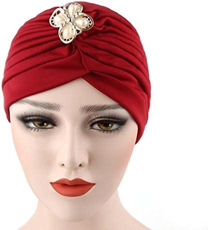 965bc5eacd3 Qingfan Women Girl Diamonds Cancer Chemo Hat Beanie Turban Head Muslim Wrap  Cap