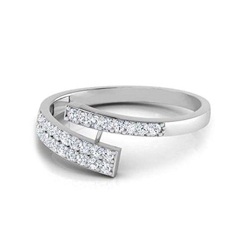 18K Or Blanc, 0,29carat Diamant Taille ronde (IJ | SI) en diamant