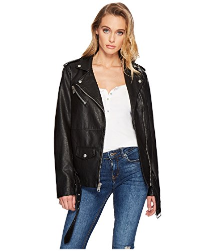 Oversized Motorcycle Jacket - 1