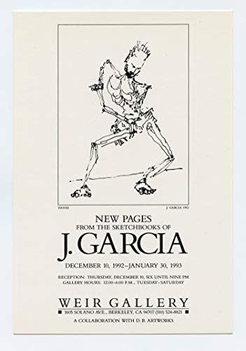 Jerry Garcia Postcard New Pages from the Sketchbooks 1992 Dec Weir Gallery Promo