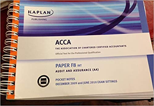 Buy F8 Audit and Assurance AA (INT): Paper F8 INT: Pocket Notes