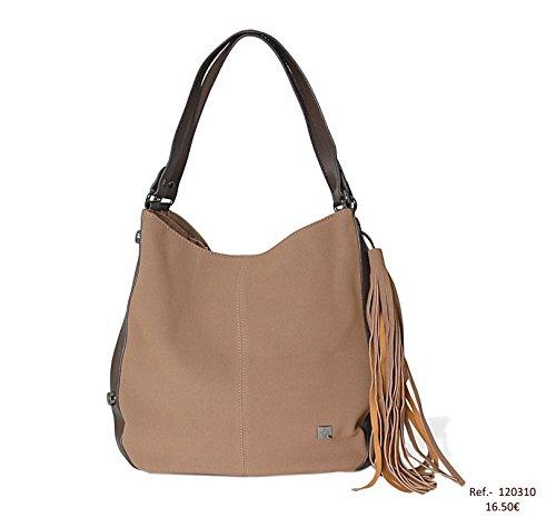 Mambo OTROS Metallic Women's Bag Shoulder DE Modelo Silver Camel MUNDOS Silver 4 0w10q