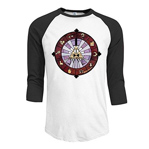 (MYDT1 Men's Bill Boss 3/4 Sleeve Baseball T Shirts/Short)