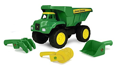 John Deere 15″ Big Scoop Dump Truck with Sand Tools
