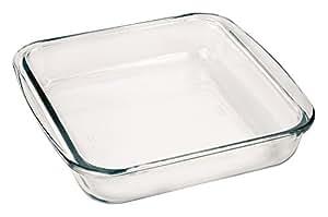 "Marinex Bakeware Square Glass Roaster, 9-5/8"" x 8-3/4"" x 2"""
