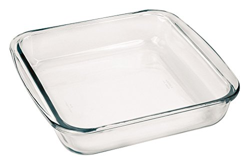 Marinex Bakeware Square Glass Roaster, 9-5/8'' x 8-3/4'' x 2'' by Marinex