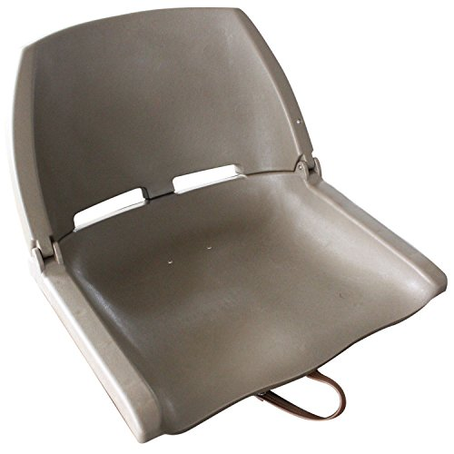 Leader Accessories Folding Plastic Boat Seat (Acorn Brown) - Plastic Boat Seats