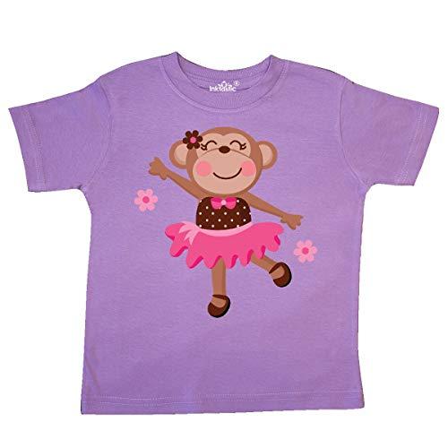 inktastic - Ballerina Dance Monkey Toddler T-Shirt 3T Lavender ()