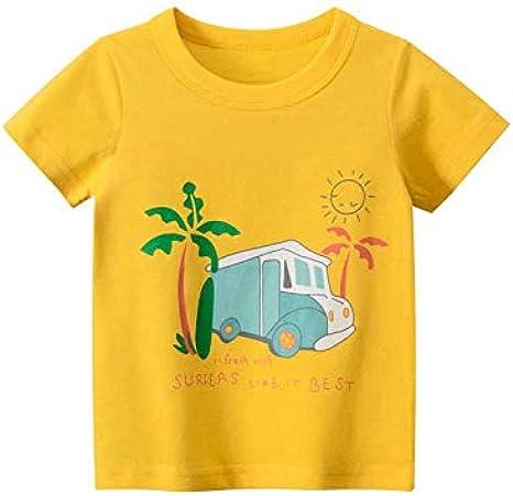 Guozyun Baby T-Shirt Toddler Boys Tee Shirts Short Sleeve Baby Boys Infant Cotton Tees Kids Shirt Undershirt