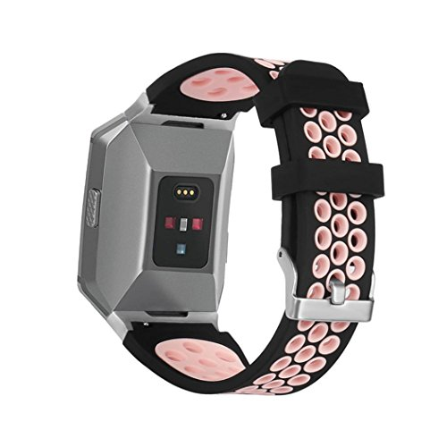 Price comparison product image Alonea Soft Silicone Replacement Sport Band Strap For Fitbit Ionic Smart Watch (Pink)
