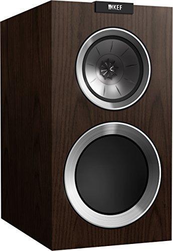 KEF R300 Bookshelf Loudspeaker – Walnut (Pair)