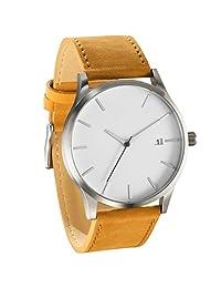 LsvtrUS Popular Low-key Men's Quartz Wristwatch Minimalist Connotation Leather Watch