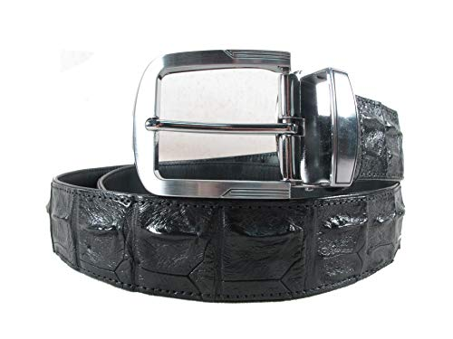 (PELGIO Genuine Crocodile Alligator Backbone Skin Leather Belt 46