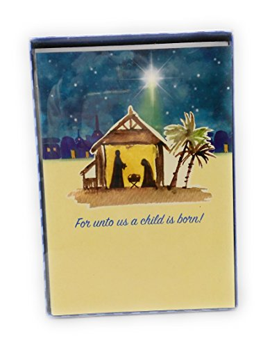 For unto us a child is born! Box set Paper Cards with Envelopes Happy Holiday - Macy's Discount Gift Card