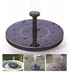Floating Solar Powered Garden Water Fountain Pump Pond for Bird Bath Fish Tank