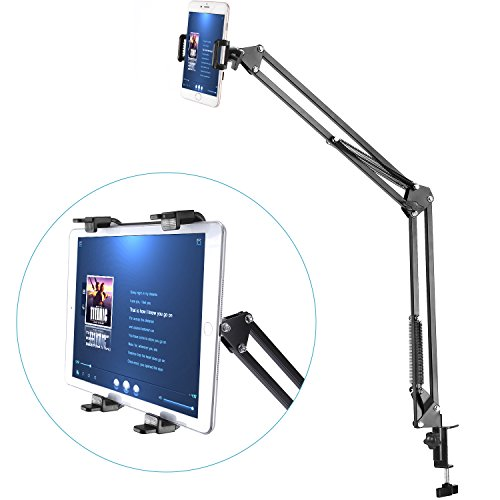 Neewer Universal Smartphone & Tablet Stand (Sturdy Metal Arm, Padded Holder, Adjustable Mounting Clamp) for iPhone...