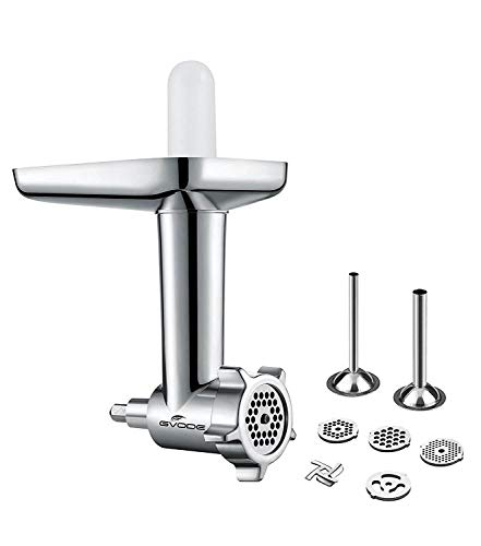 Gvode Food Grinder Attachment for KitchenAid Stand Mixers Including Sausage Stuffer - Parts Meat Grinder