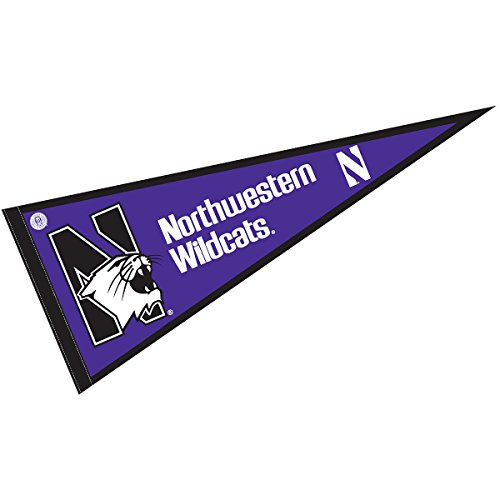 (College Flags and Banners Co. Northwestern University Pennant Full Size Felt)