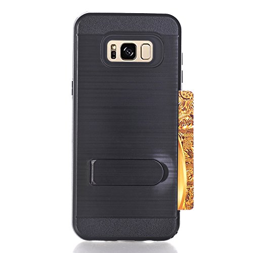 Phone-Case-For-Galaxy-S8-Plus-Case-Card-Slot-Holder-Dual-Layer-Hybrid-Rubber-Bumper-Shock-Absorption-Protective-with-Card-Holder-and-Kickstand-Cover-for-Samsung-Galaxy-S8-Plus