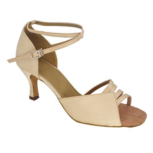 misu - Zapatillas de danza para mujer Skin Color, color, talla 36