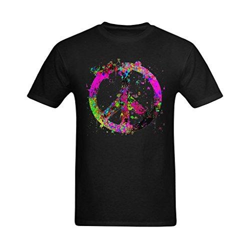 NeloimageMen Existlong Peace Sign Splatter Art Design Size Small T Shirt (Sign Peace Splatter)