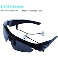 Sports Sunglasses Upgraded V4.1 Wireless Stereo Headsets Headpfhone Polarized Glasses Goggles Hand-free Answer for Outdoor Activities