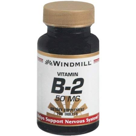 Windmill Vitamin B-2 50 mg Tablets - 100 ea (2 Pack)