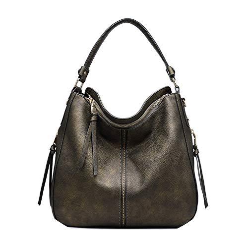 - women shoulder crossbody bag casual large totes artificial leather hobo messenger bag,copper