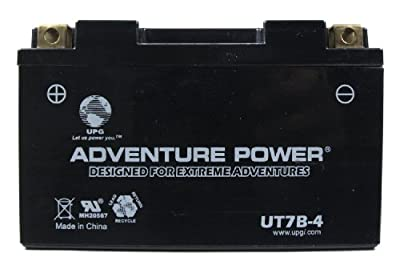 UPG UT7B-4 Adventure Power Power Sport AGM Series Sealed AGM Battery