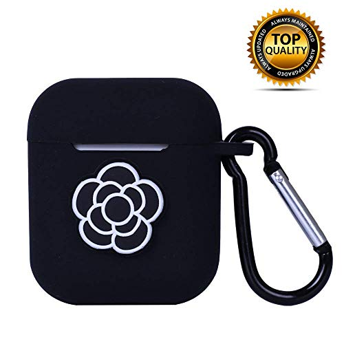 MODISH TECH Airpods Case Cover Flower Design with Keychain   Protective Silicone Anti-Lost Dust-Proof & Shock Resistant