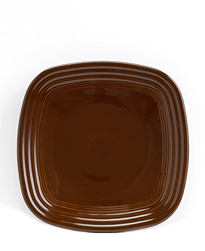 Fiesta 9-1/8-Inch Square Luncheon Plate Chocolate by Homer Laughlin - Homer Laughlin Fiesta Chocolate