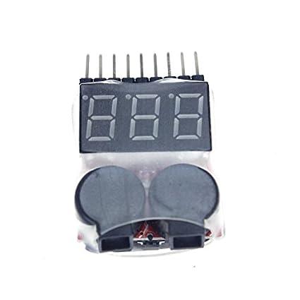Zantec 1-8S 2-en-1 monitor de voltaje digital alarma de ...