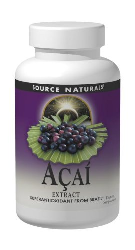 Source Naturals Açaí Extract 500mg, Superantioxidant from the  Brazilian Rainforest, 120 Capsules