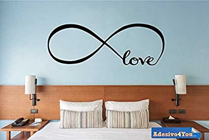 Adesivo4You ® Adesivo murale Infinito Love per Camera da Letto ...